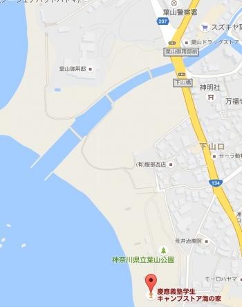 map葉山御用邸
