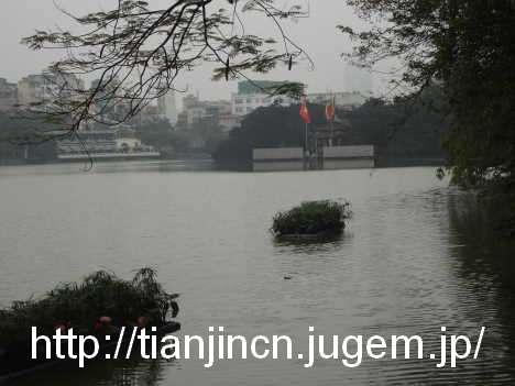 ハノイ ホアンキエム湖 Den Ngoc Son 玉山祠およびその周辺4
