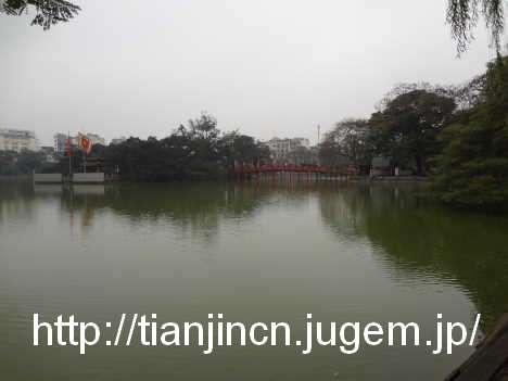 ハノイ ホアンキエム湖 Den Ngoc Son 玉山祠およびその周辺5