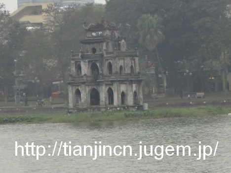 ハノイ ホアンキエム湖 Den Ngoc Son 玉山祠およびその周辺6