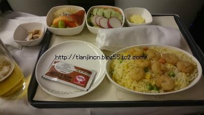 CA 中国国際航空980便ビジネスクラスでバンコクから北京へ2
