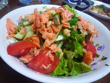 紅鮭サラダ