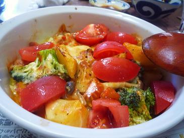 野菜のピッザソースオーブン焼き