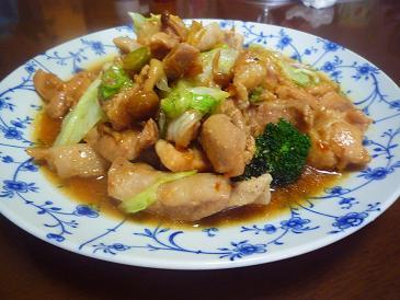 鶏豚レタス炒め