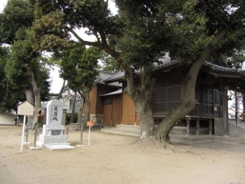 増楽熊野神社と叟蘿魂碑