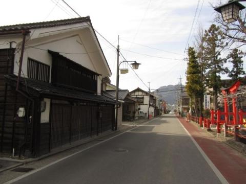 科野大宮社と旧北国街道