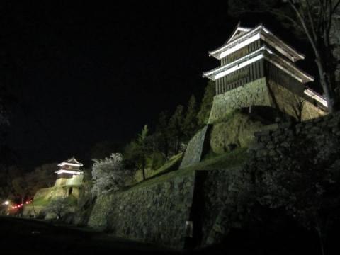 上田城本丸南櫓と西櫓