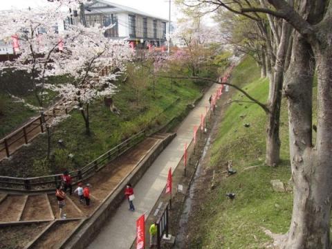 上田城二の丸堀跡
