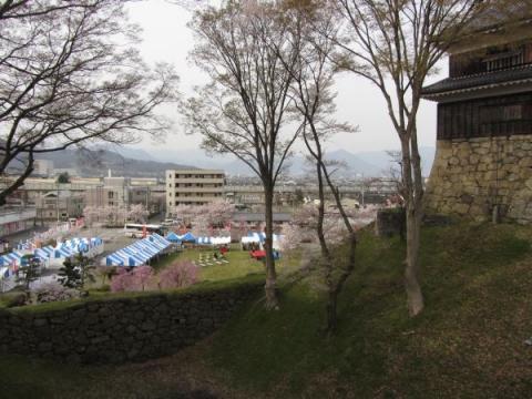 上田城南櫓と空堀