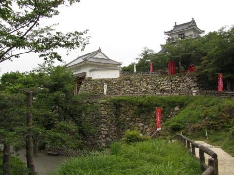 浜松城天守門と模擬天守