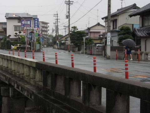 安間橋と旧東海道