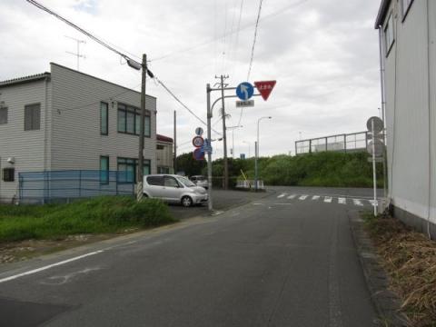 旧東海道 沢田ICの消失地点