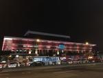 台北駅のライタアップ