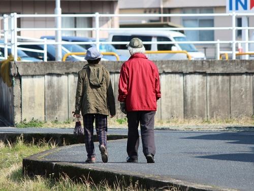 老夫婦 年金 散歩