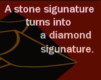 石ころサインがダイヤの原石に変わる!