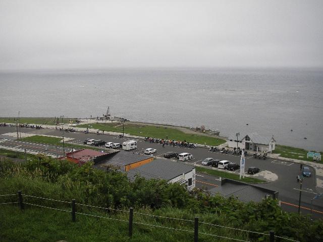 旧海軍望楼から宗谷岬を見下ろす2015