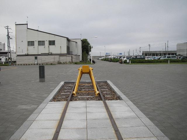 稚内駅2015車止め2