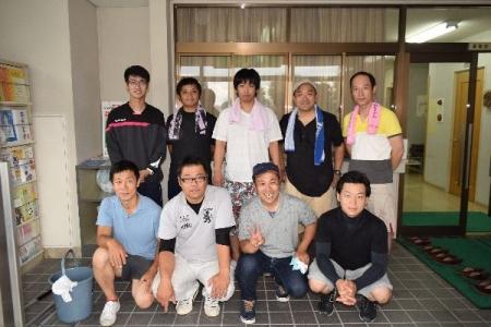 作州津山商工会久米支部青年部カーブミラー清掃ボランティアH28