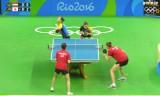 女子団体準々決勝(日本VSオーストリア)第3試合(ダブルス)