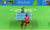 女子団体準々決勝(日本VSオーストリア)第2試合(石川佳純)
