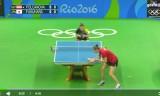 女子団体準々決勝(日本VSオーストリア)第1試合(福原愛)