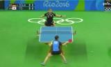 女子団体準決勝(日本VSドイツ)第1試合(伊藤美誠)