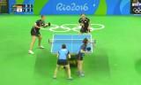 女子団体準決勝(日本VSドイツ)第3試合(ダブルス)