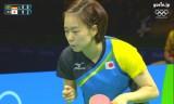 女子団体準決勝(日本VSドイツ)第4試合(石川佳純)