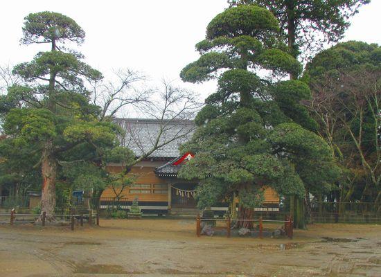白幡神社施工前正面