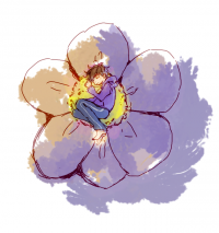 花とちっちゃい一松