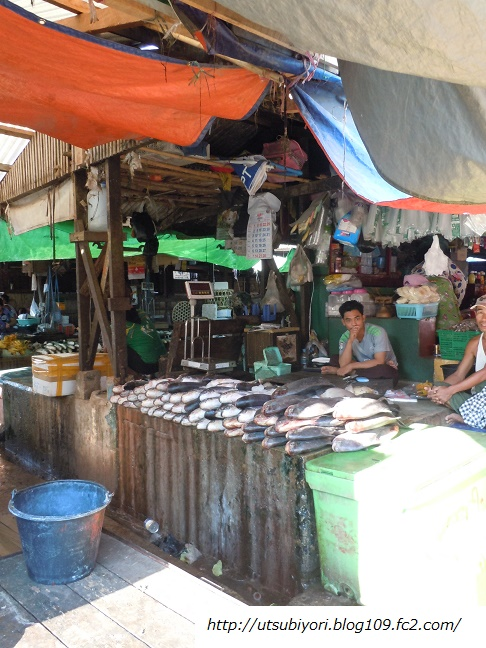Hpa-an market Fish