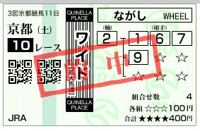 京都10R ワイド