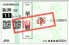 阪神11R 単勝