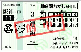 宝塚 3連複