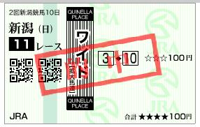 新潟11R ワイド