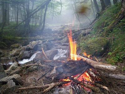 今日の焚き火