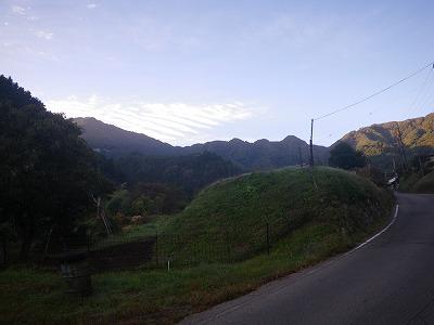 ハガケ山の稜線
