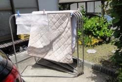 ボアシーツを洗濯20160508