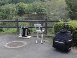 鏡山公園でアコーディオン20160908-1