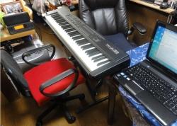 RolandMIDIキーボードコントローラーA-33&音源SC-88そしてSONYパーソナルオーディオSRS-X3