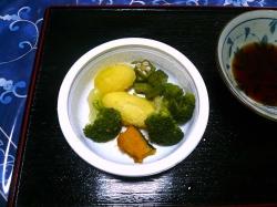 ソーメンへ添え物の野菜20160913-1