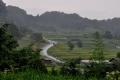 ⑤雨にけぶる稲渕の棚田