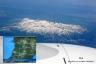空撮3、月山と飛行ルート
