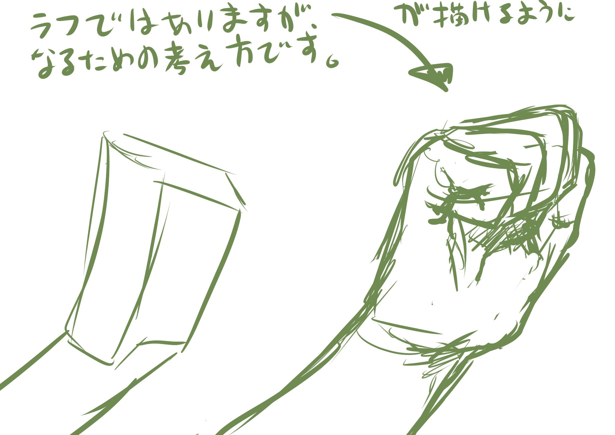 手の書き方を考える1