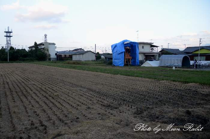 栄町だんじり仮設収納庫(テント) 東予祭り