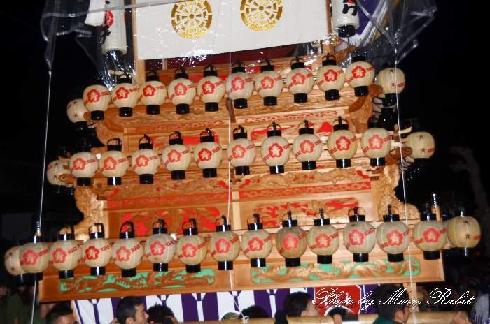 祭り提灯 西の川原屋台(だんじり)