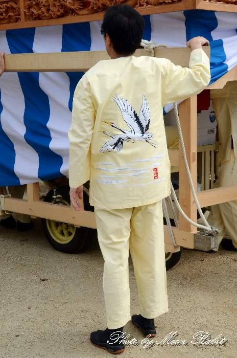 明神木だんじり(明神木屋台) 祭り装束 西条祭り