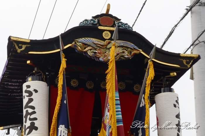 先代錦町屋台(だんじり) だんじり破風
