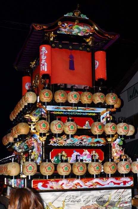 下小川だんじり(屋台) 祭り提灯 西条祭り