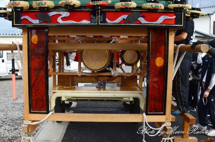 袖障子 松之巷屋台(だんじり) 西条祭り